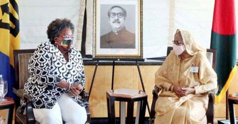 বার্বাডোজের প্রধানমন্ত্রী মোটলির শেখ হাসিনার সঙ্গে সাক্ষাৎ